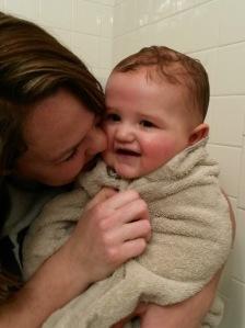 Mama and Jess after bath