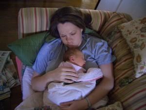Mama and Merritt sleeping